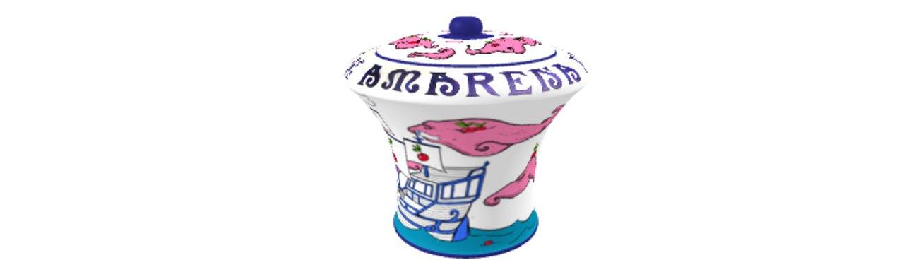 Amarena fabbri vaso disegno a cura del giovane artista luca noce