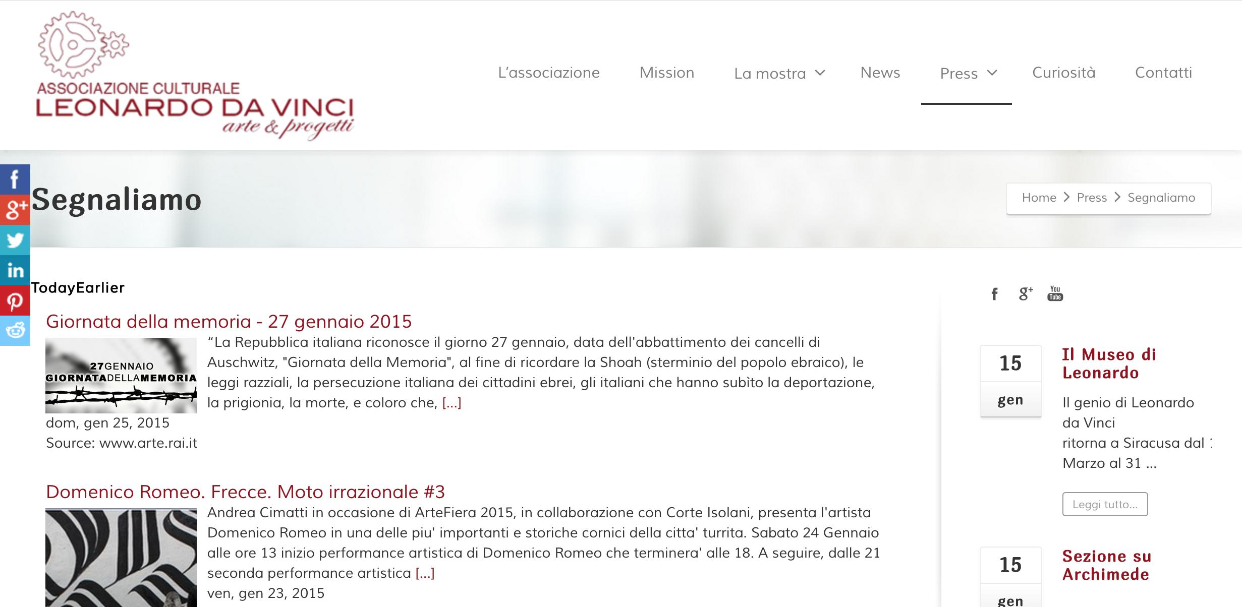 Andrea Cimatti presenta Domenico Romeo in una performance Live 14