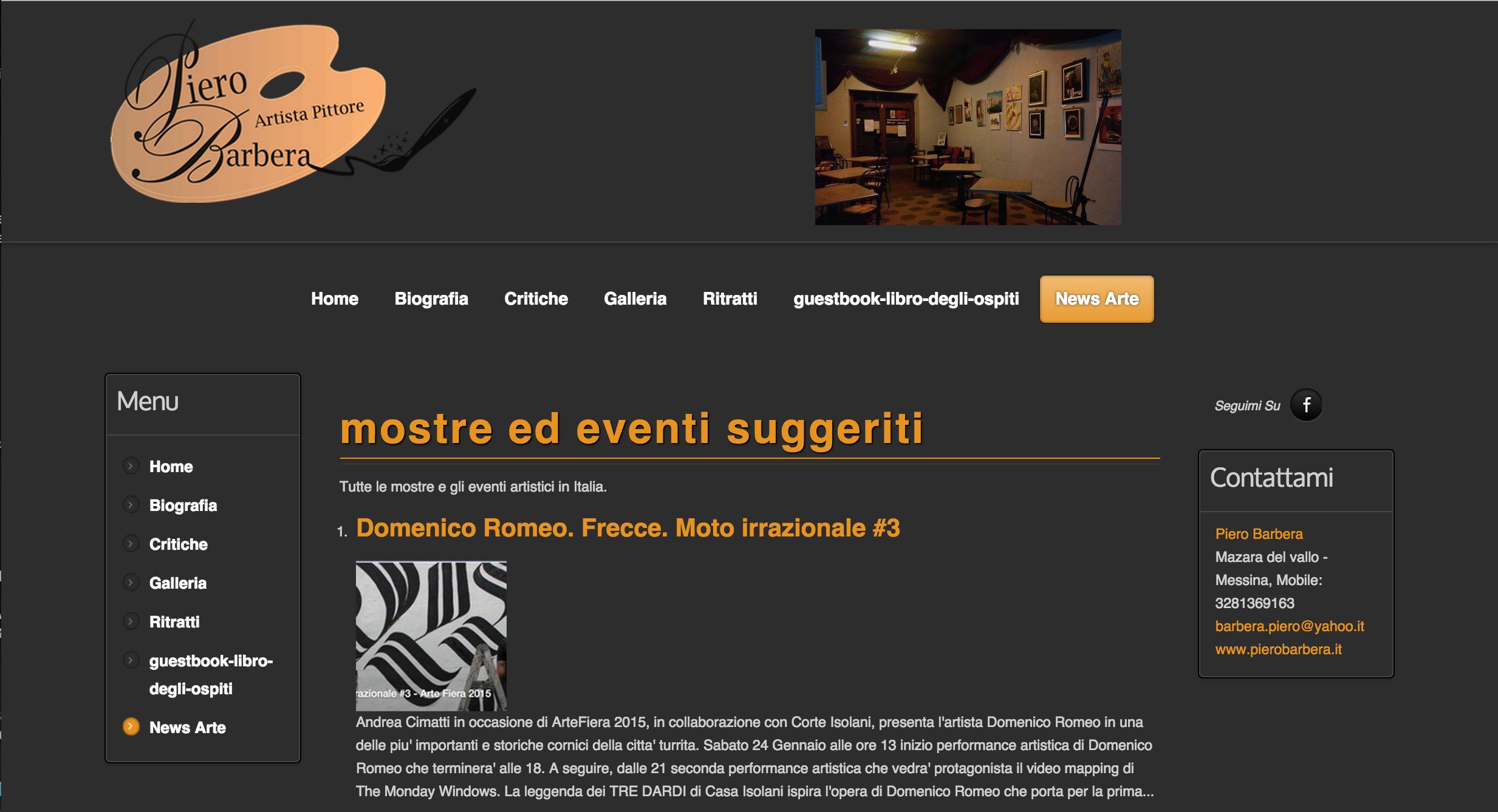 Andrea Cimatti presenta Domenico Romeo in una performance Live 15