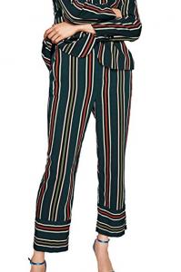 pantaloni a righe multicolor sopra la caviglia