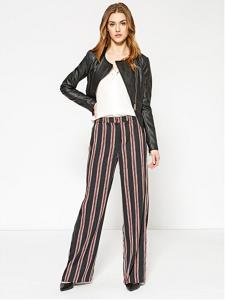 Pantalone a righe multicolor stile pantapalazzo
