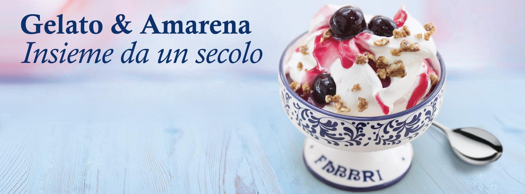 Amarena Fabbri vaso con gelato