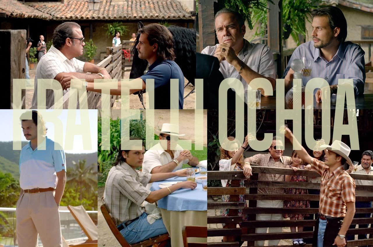 I narcotrafficanti fratelli Ochoa del cartello di medellin nella serie netflix narcos