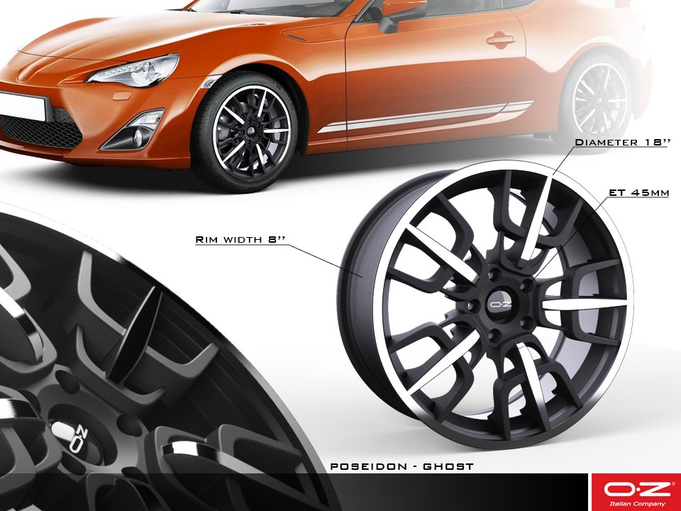 Oz wheels rim cerchio design poseidon