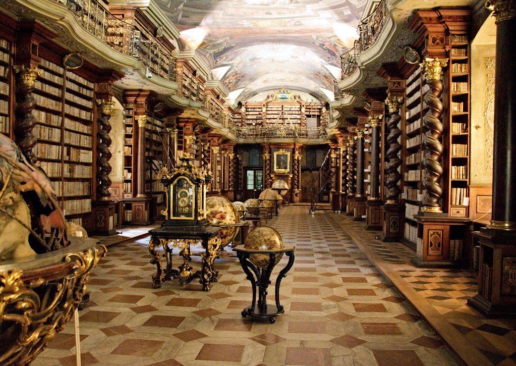 Libreria interna al Clementinum