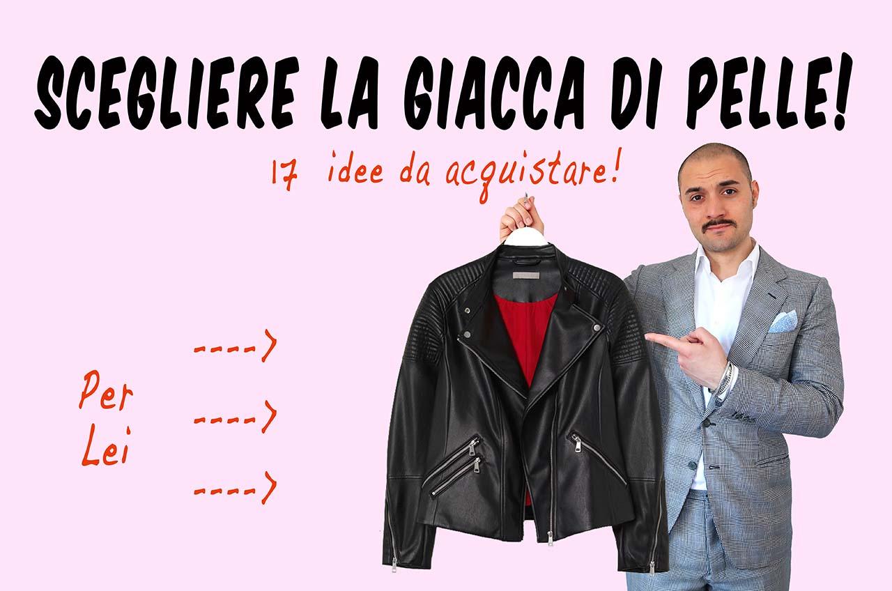 Scegliere la giacca di pelle per lei da donna online shop