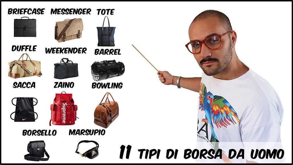 11 tipi di borsa da uomo | Che Stile! Andrea Cimatti youtuber