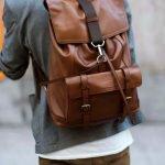 11 tipi di borsa da uomo zaino da uomo in pelle marrone