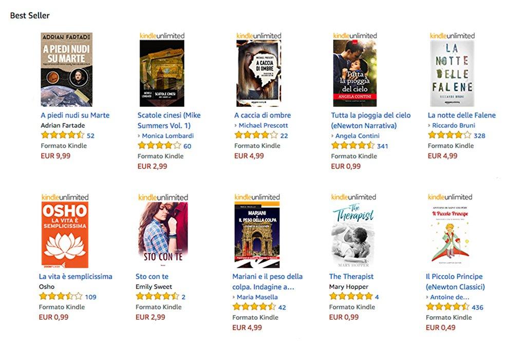 Kindle Unlimited versione prova per 30 giorni tutti i best seller amazon